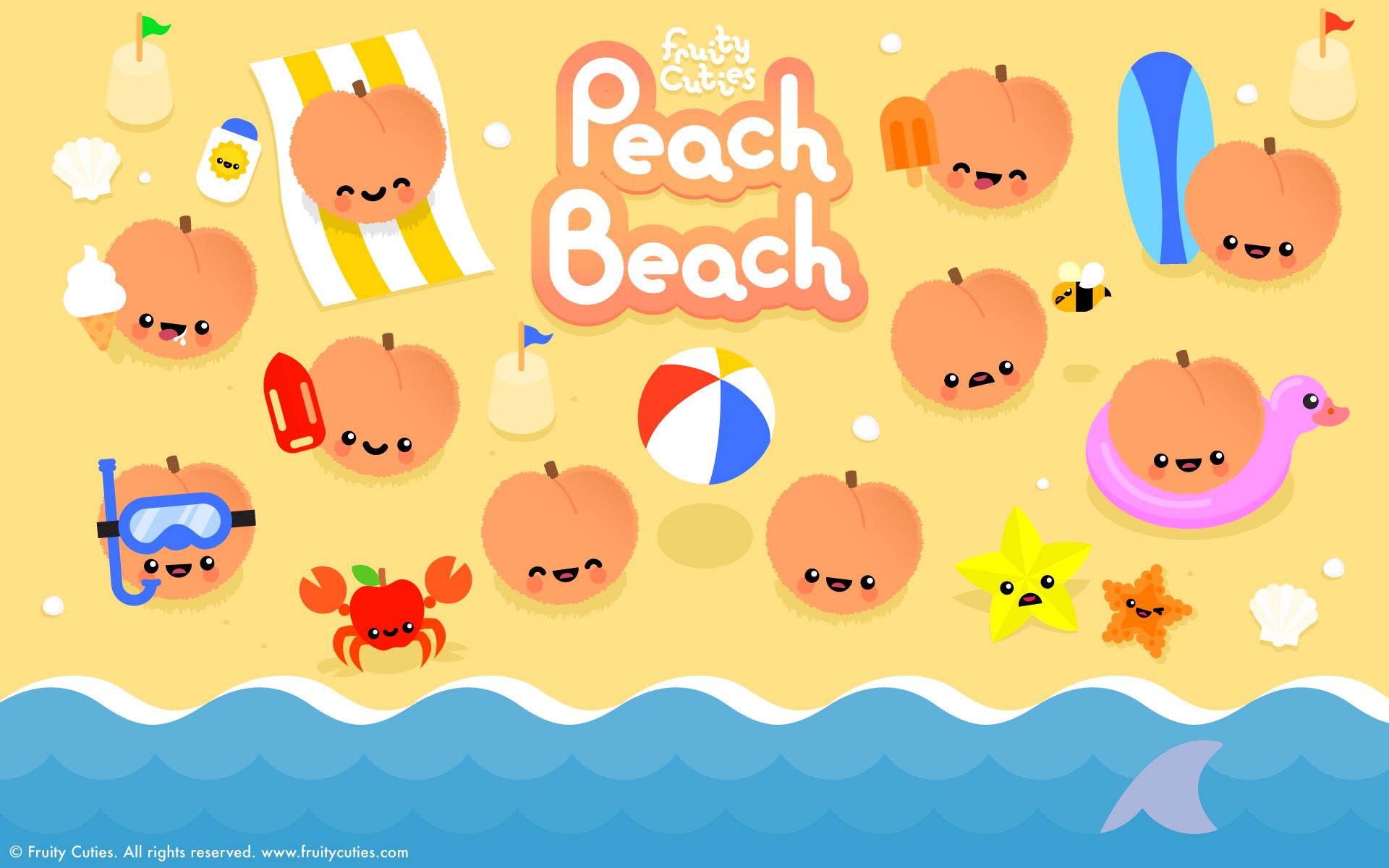 Fruity Cuties   Peach Beach Widescreen Wallpaper 1920x1200