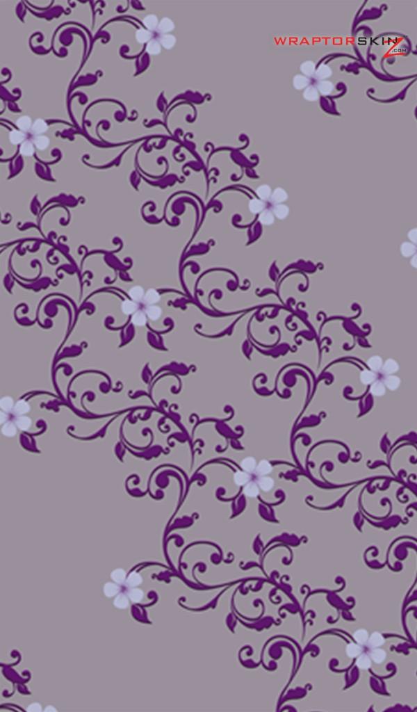 Kindle Fire Original Decal Style Skin   Victorian Design Purple 600x1024