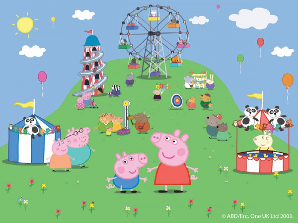 Peppa Pig Wallpaper Mural Wallpaper from FADS 1000x750