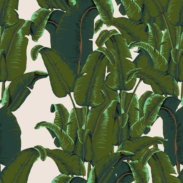 Banana Leaf Wallpaper Tiles   Tropical   Wallpaper   by Design Your 640x640