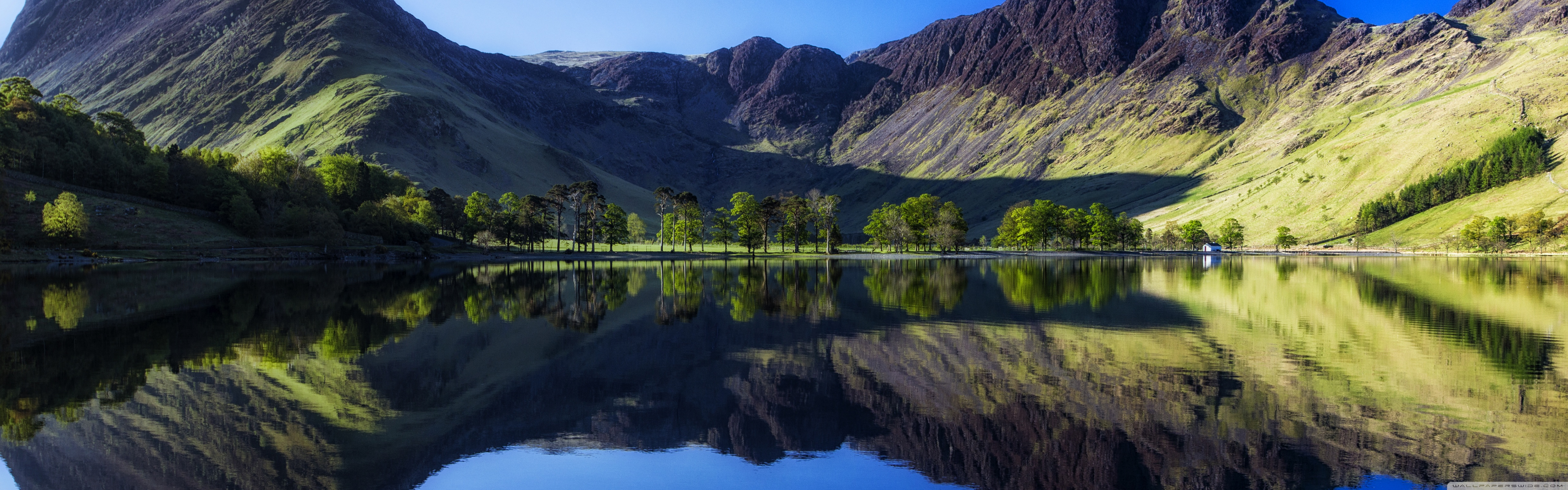 Buttermere Lake District England 4K HD Desktop Wallpaper for 5120x1600