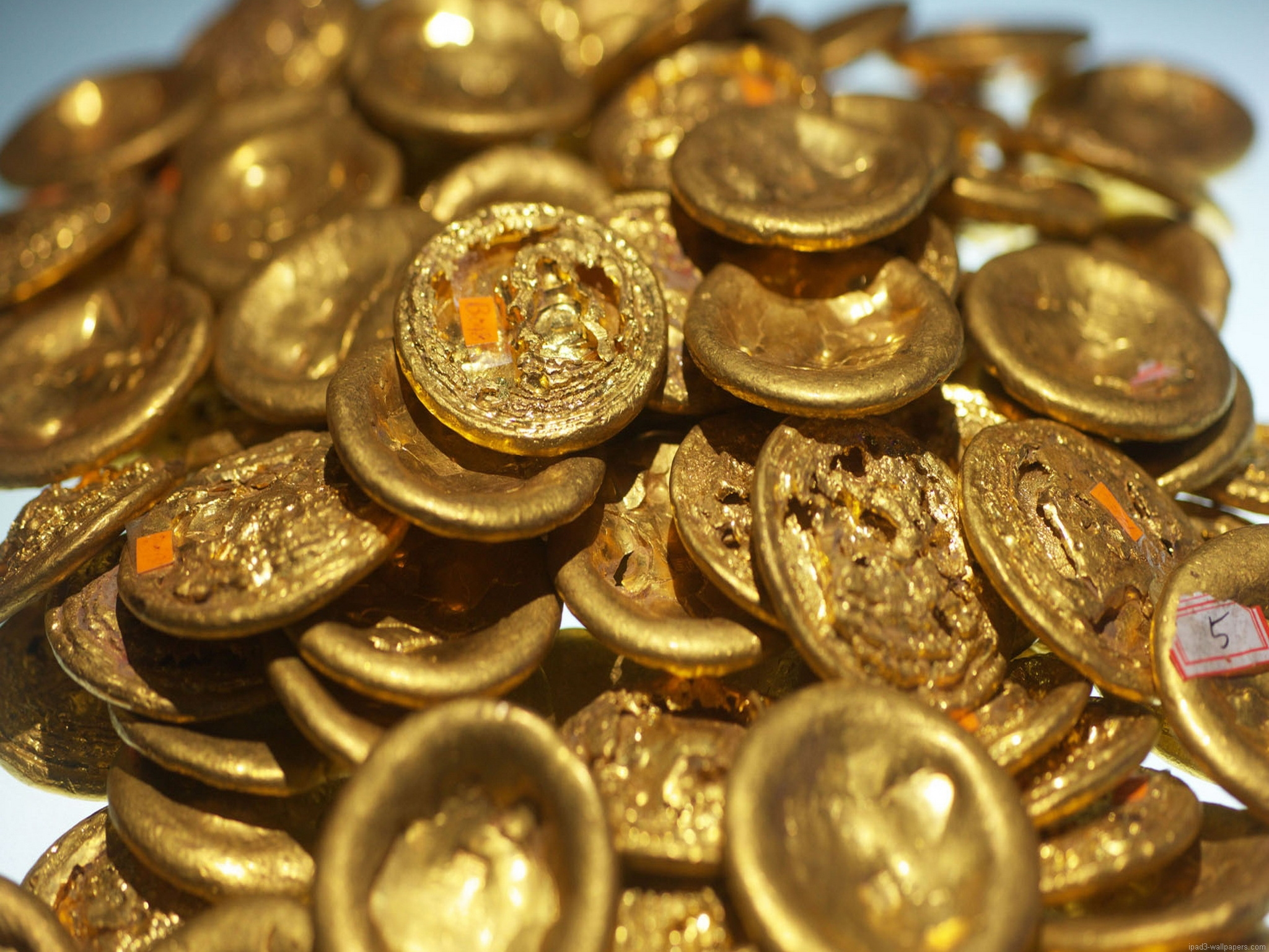 chinese gold coins wallpaper 3894 iPad 3 Wallpaper iPad 3 Background 2048x1536