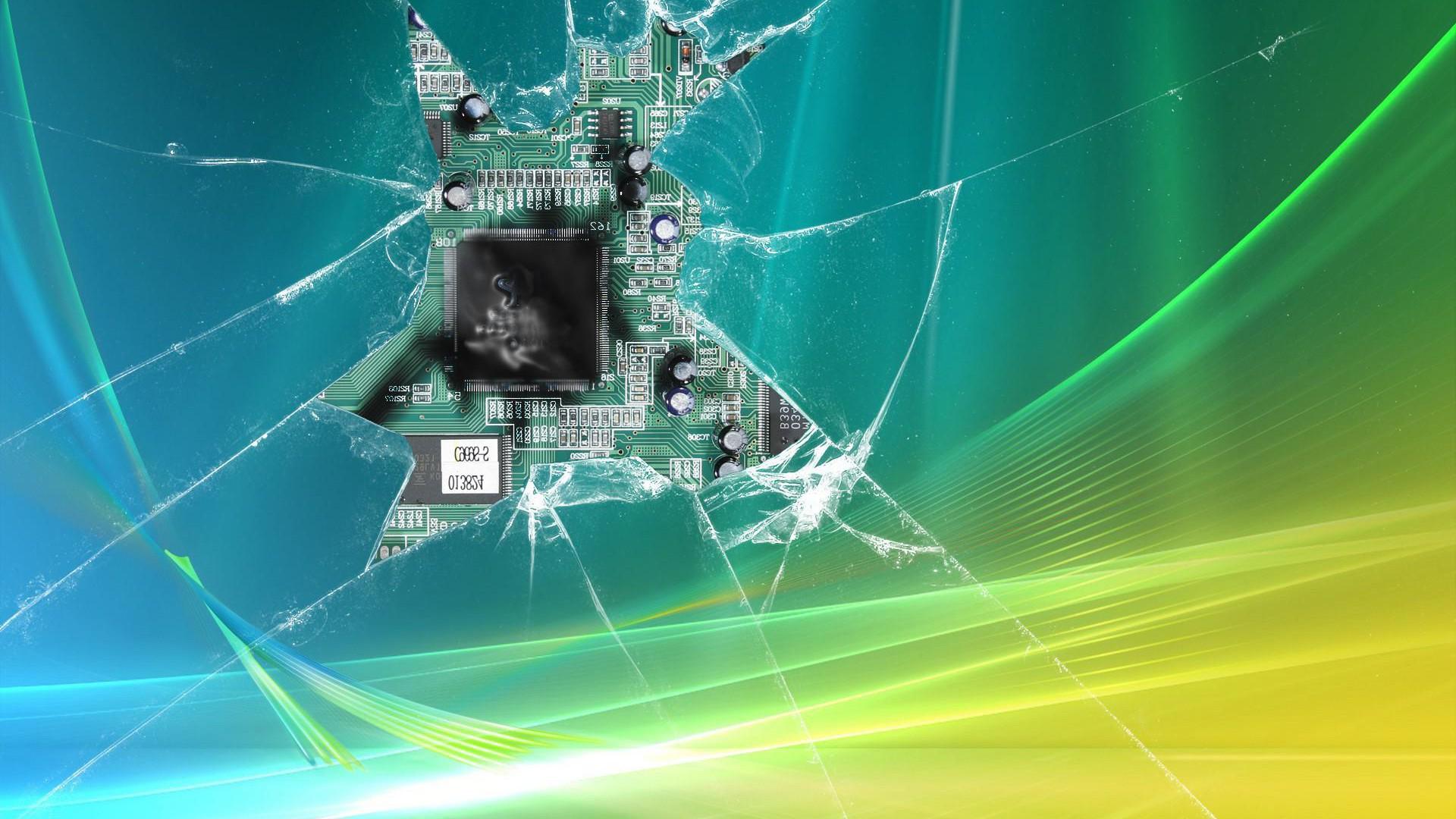 Cracked Screen Windows Vista Exclusive HD Wallpapers 2264 1920x1080