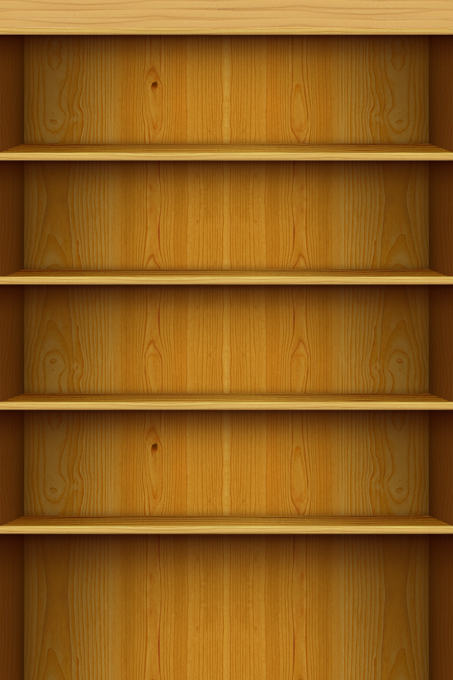 wallpaper for your iPhone 4 Inspired by Jeff Brodericks Bookshelf 640x960