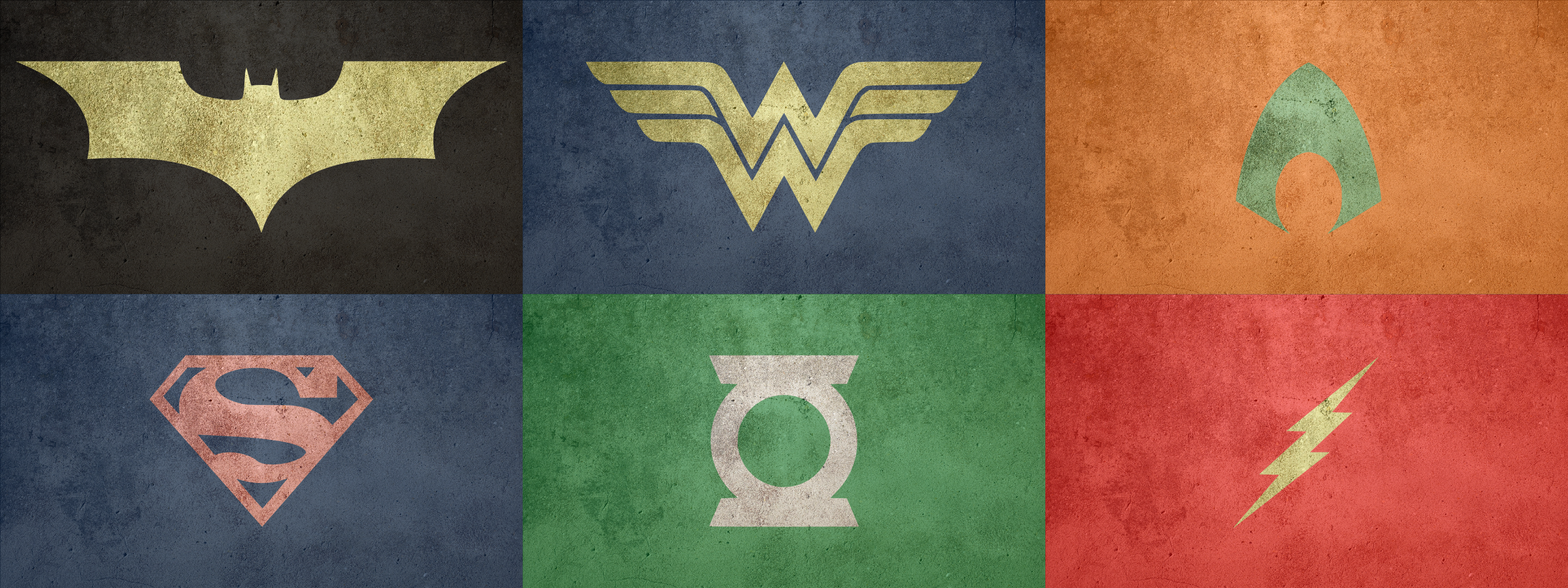 justice league logo set by amorphousobject designs interfaces logos 2880x1080