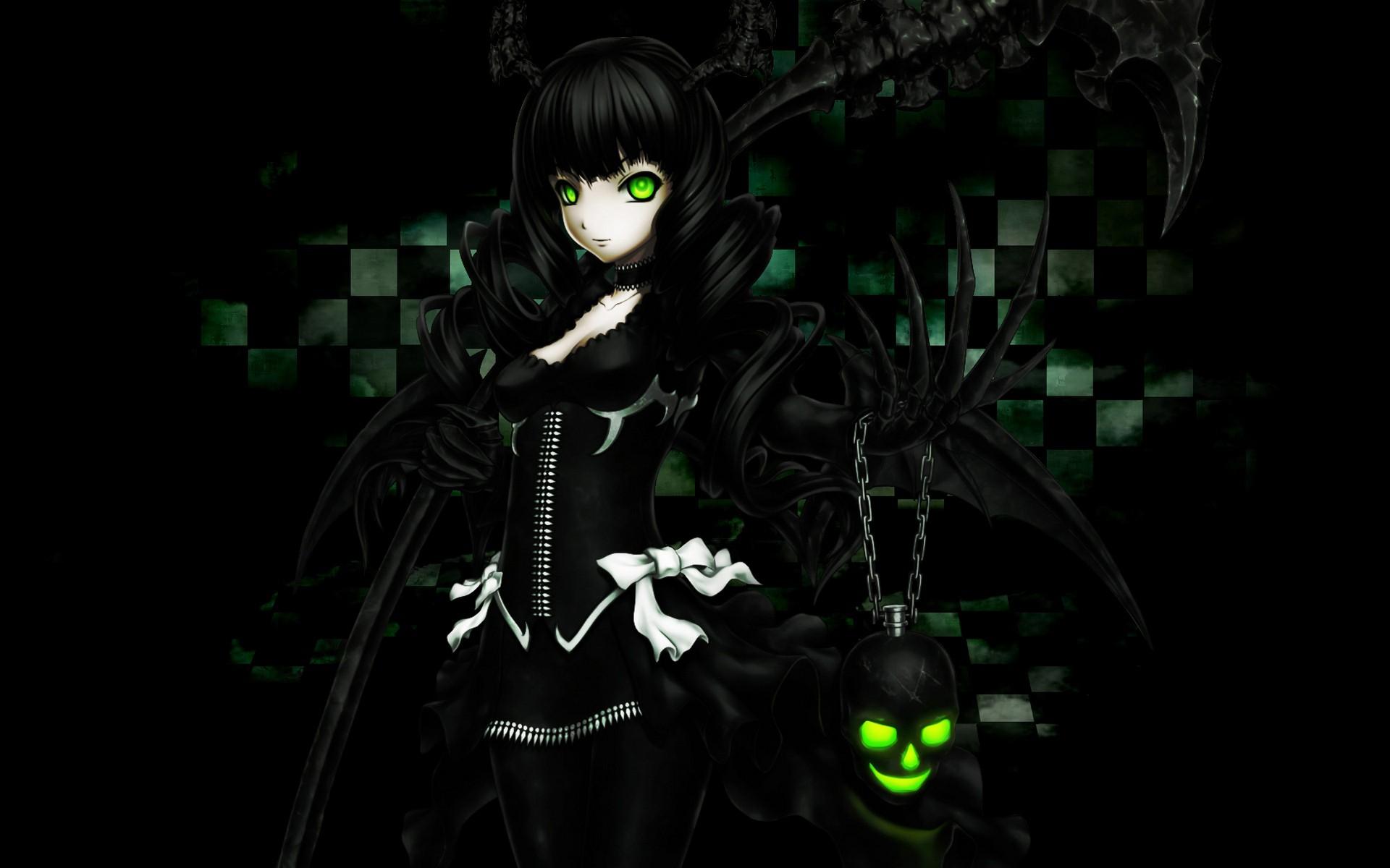 girl on dark wallpaper - photo #37