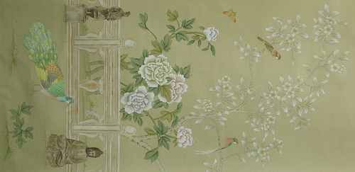 Chinoiserie Hand Painted Wallpaper   CHINOISERIE GARDEN 4 Flickr 640x311