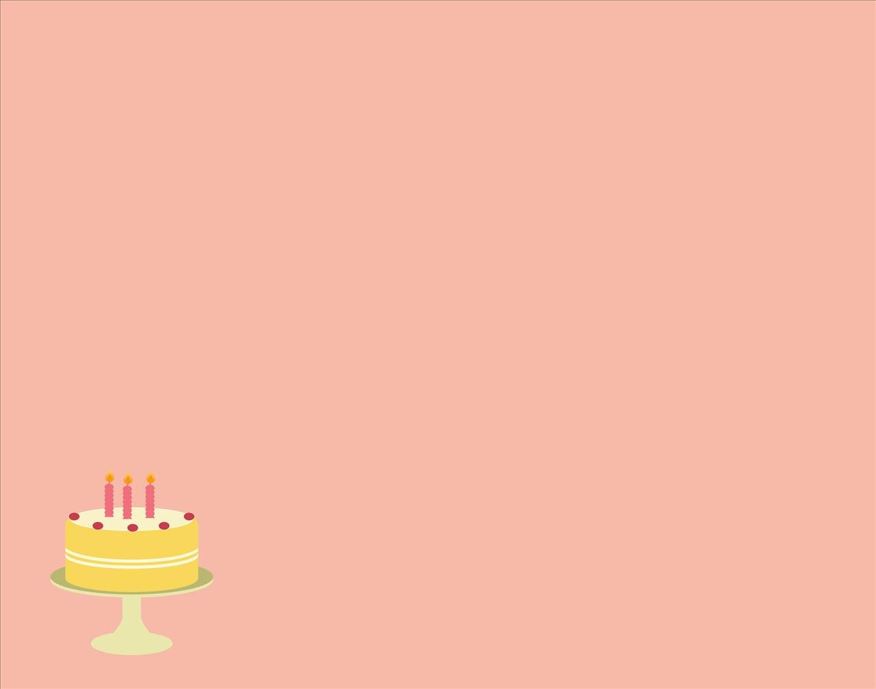Picture Of A Birthday Cake With Three Candles