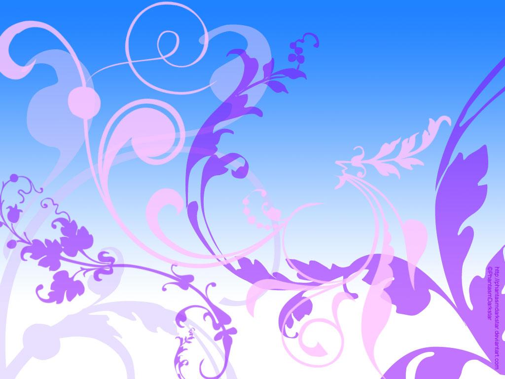 Free Download Blue Pink N Purple Floral By Phantasmdarkstar