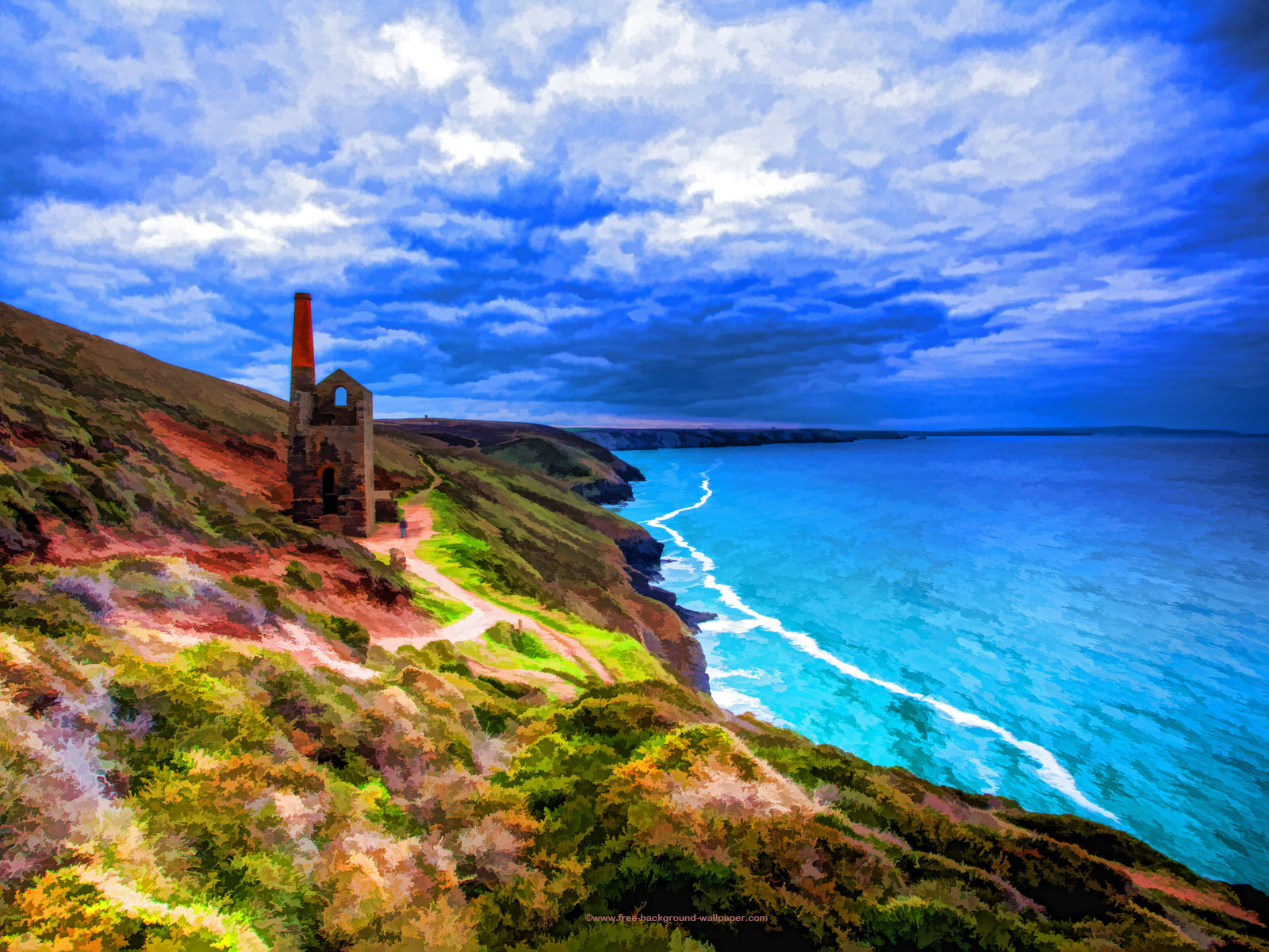 Tin Mine in Cornwall Artistic Backgrounds   1600x1200 pixels 1600x1200