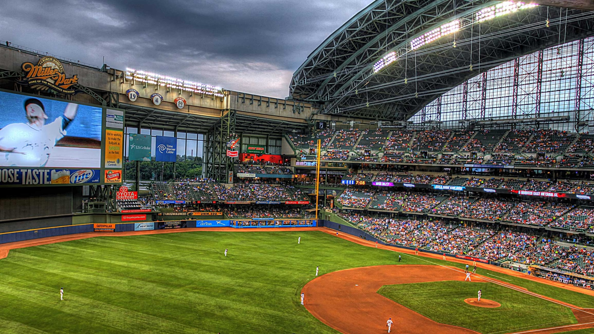 Download Baseball Stadium Wallpaper 1920x1080