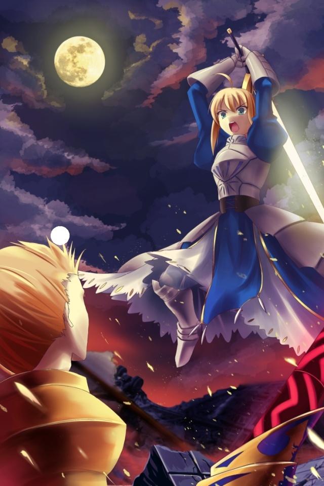 Fate ZeroSaber Arturia PendragonArcher Gilgamesh640960 [ Fate 640x960