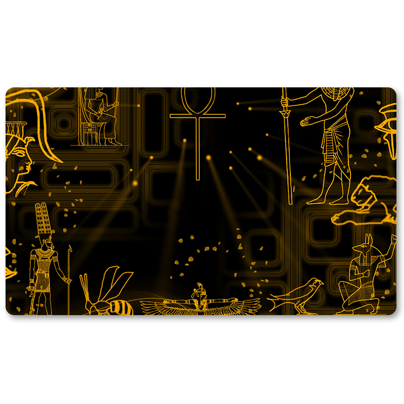 Many Playmat Choices Hieroglyph background Yu Gi Oh Playmat Board 800x800