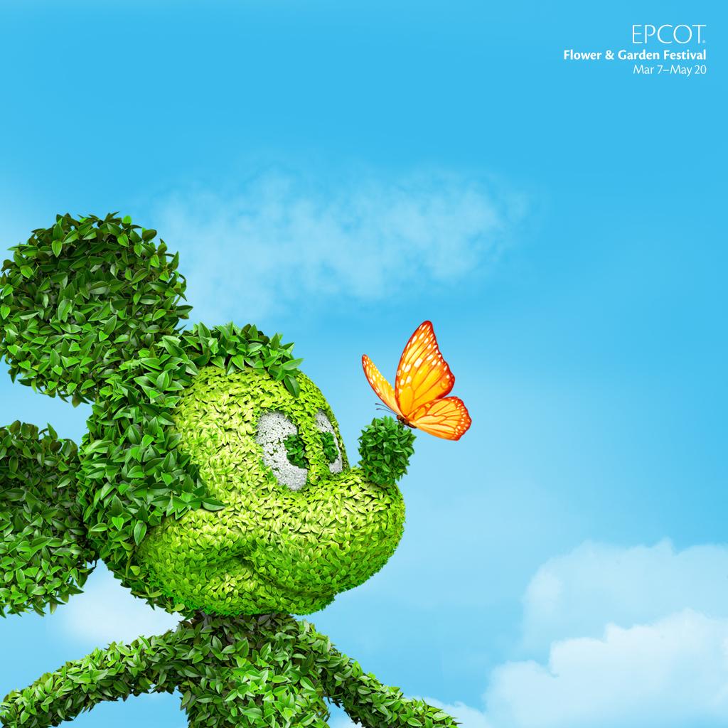 Epcot International Flower Garden Festival Desktop Wallpaper 1024x1024