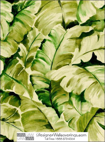 Titos Tropical Banana Leaf Wall Paper [WAT 39935] Water Colors Wall 442x600