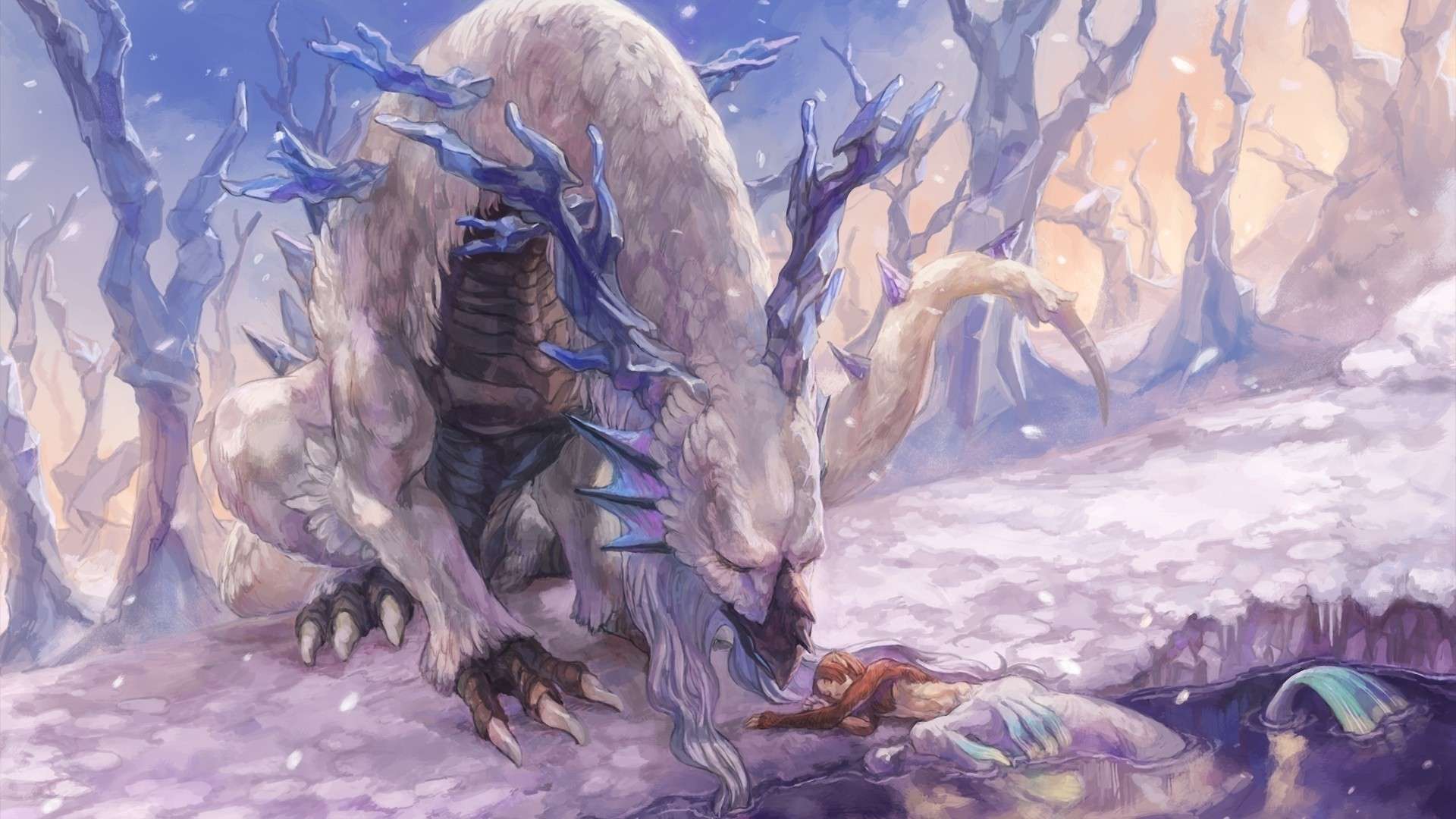 Ice Dragon Wallpaper Ice dragon wallpapers and 1920x1080