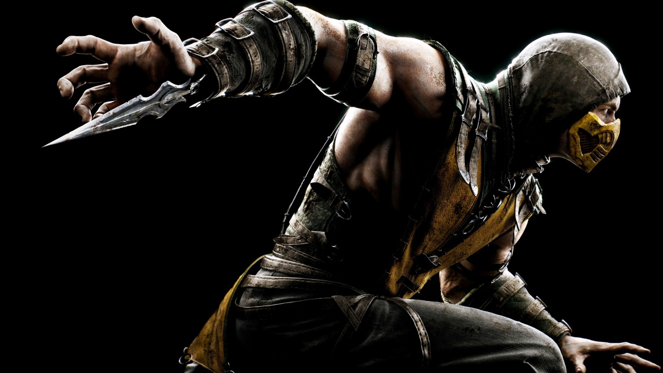 Mortal Kombat X Scorpion Wallpapers HD Wallpapers 1366x768