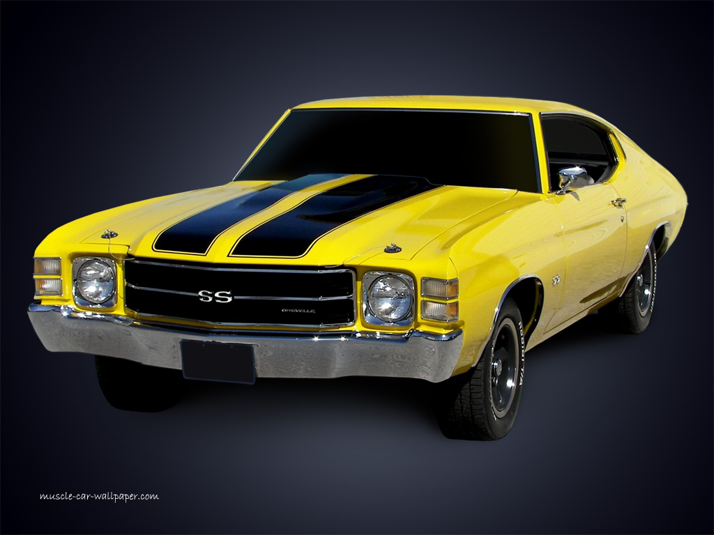 1971 chevelle ss yellow sport coupe left front view chevelle muscle 1024x768