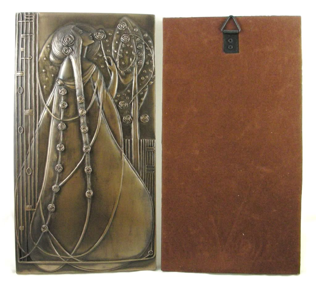 Rennie Mackintosh WALL PLAQUES Art Nouveau BRONZED Deco NEW 01022 1023x920
