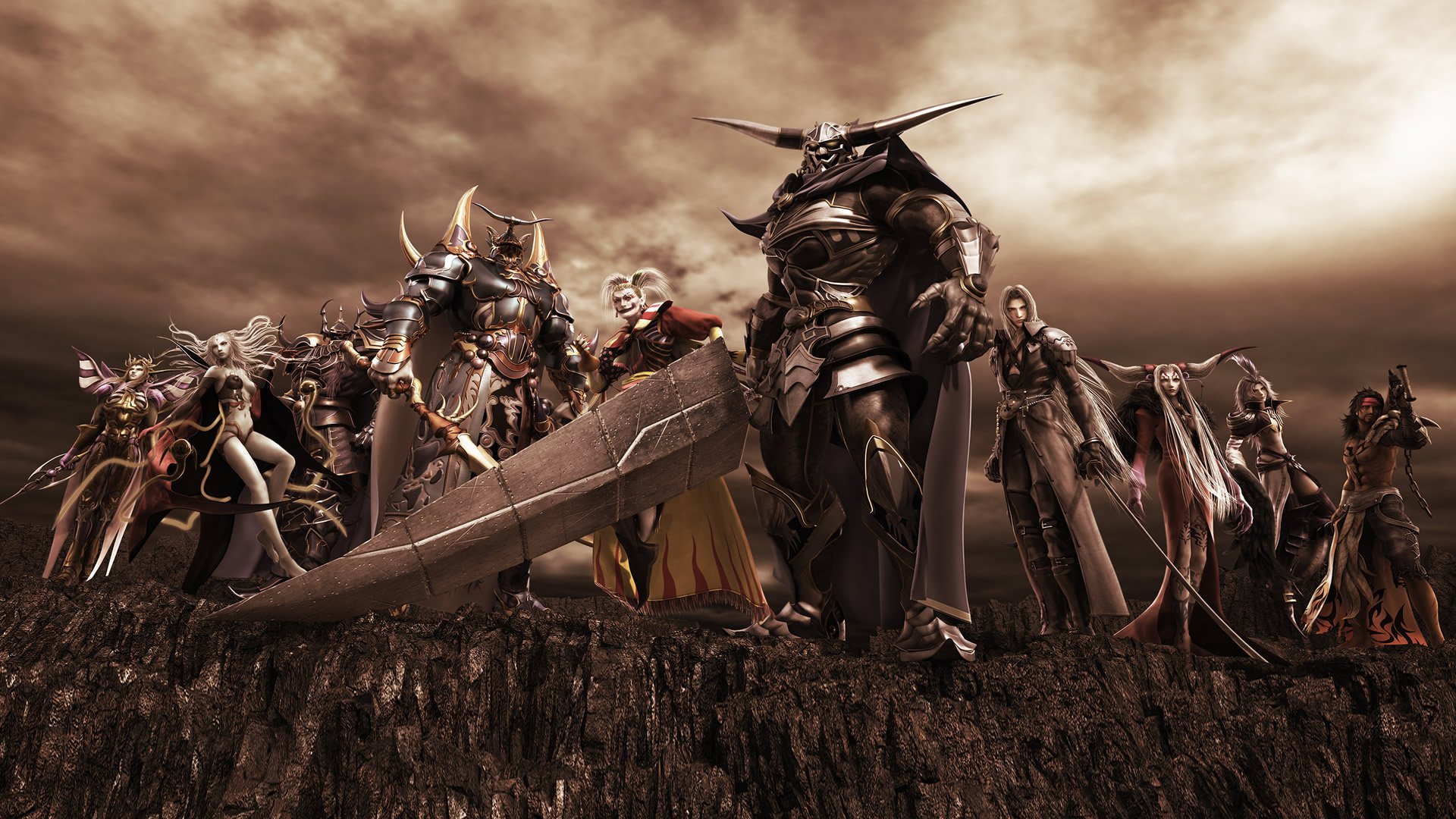 Fighting game wallpaper wallpapersafari the antagonists fighting games wallpaper image featuring dissidia voltagebd Images
