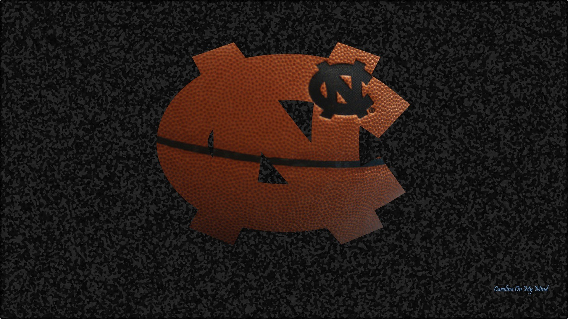 UNC Wallpaper   Basketball Grain NC Logo on Textured Black Background 1920x1080