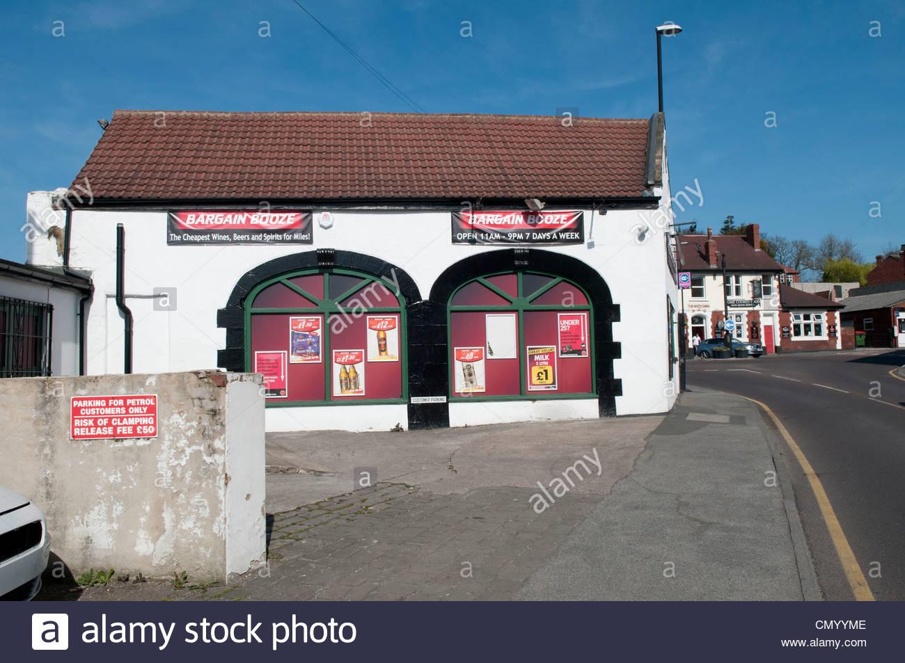 Bargain Booze White Swan pub in background Cross Hills Kippax 1300x953