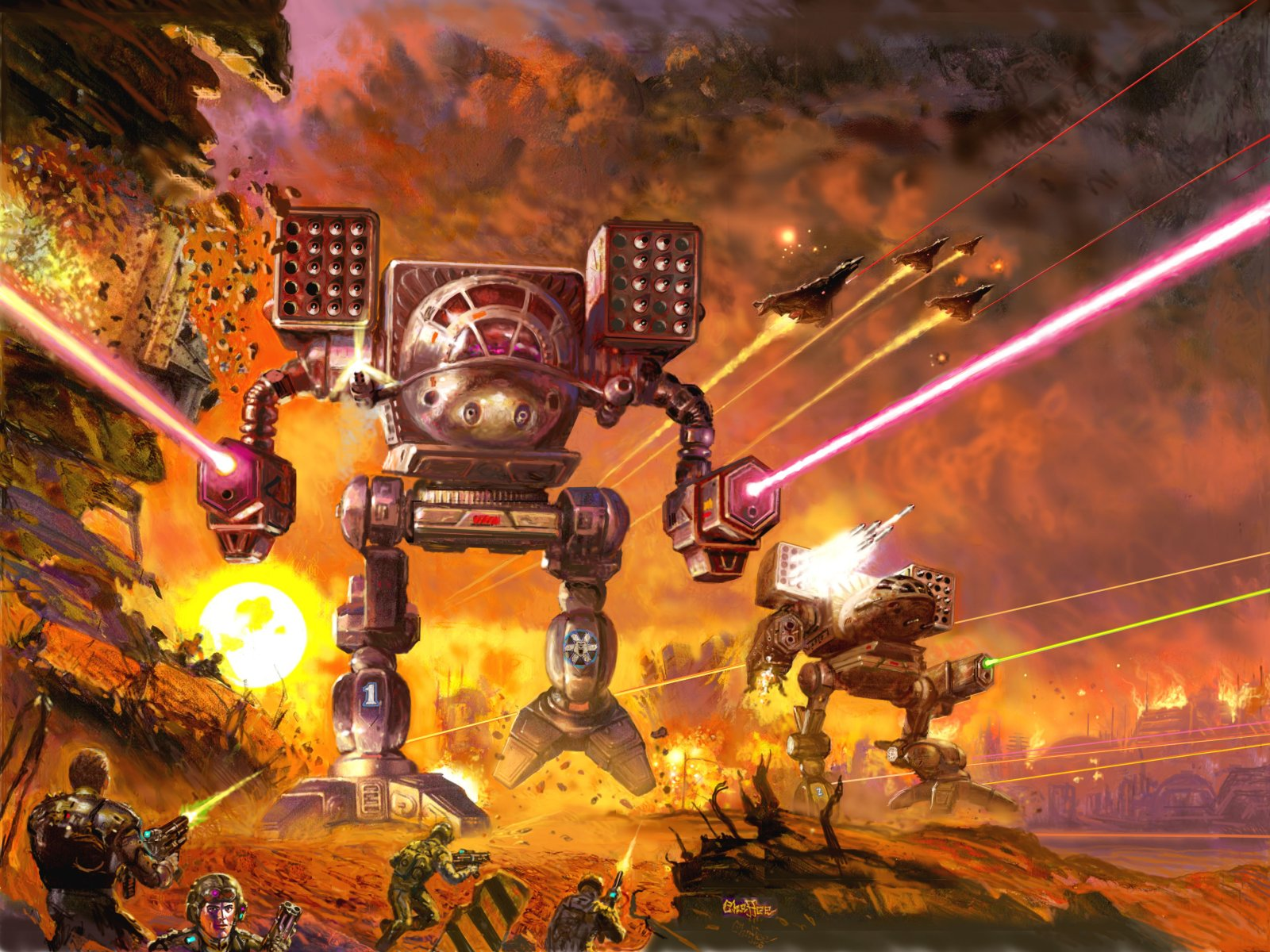 17 MechWarrior HD Wallpapers Backgrounds 1600x1200