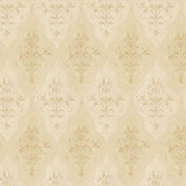 Gold Moroccan Damask Wallpaper   Wall Sticker Outlet 600x600
