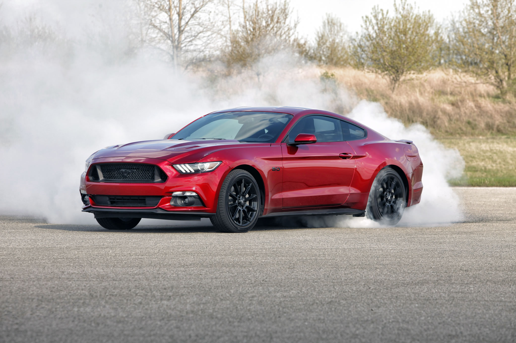 2016 Ford Mustang GT   front photo Ruby Red paint burnout size 2048 2048x1365
