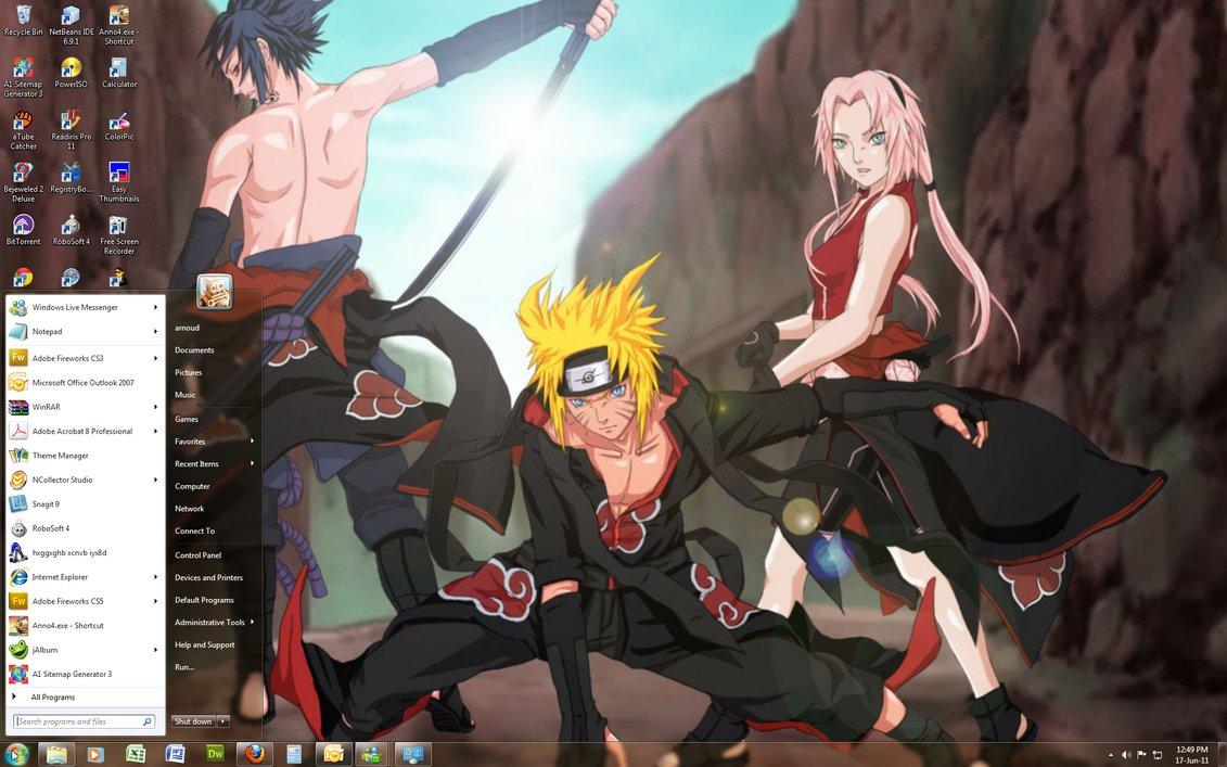Dwonload Naruto Theme Dan Wallpaper Untuk Windows Dragonball Naruto 1131x707