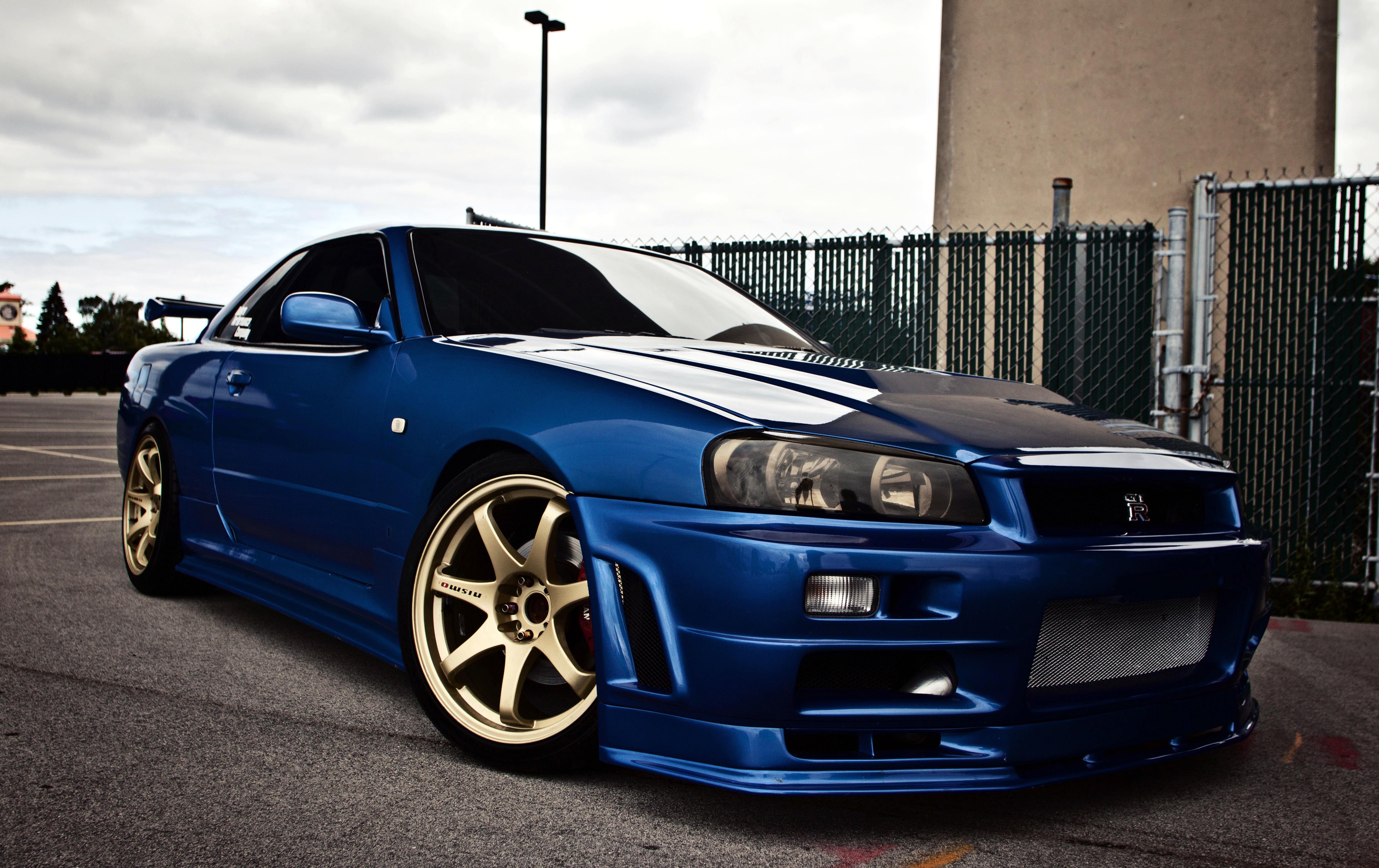 Nissan skyline gtr r34 blue wallpaper photos pictures 4752x2995