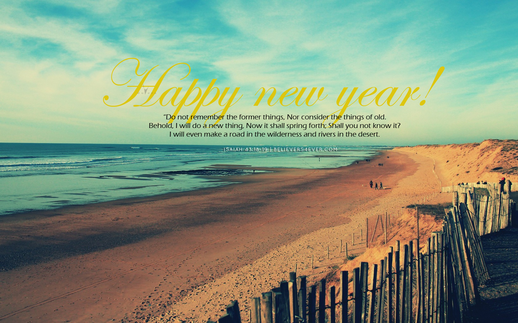 Former things Christian new year graphics 1680x1050