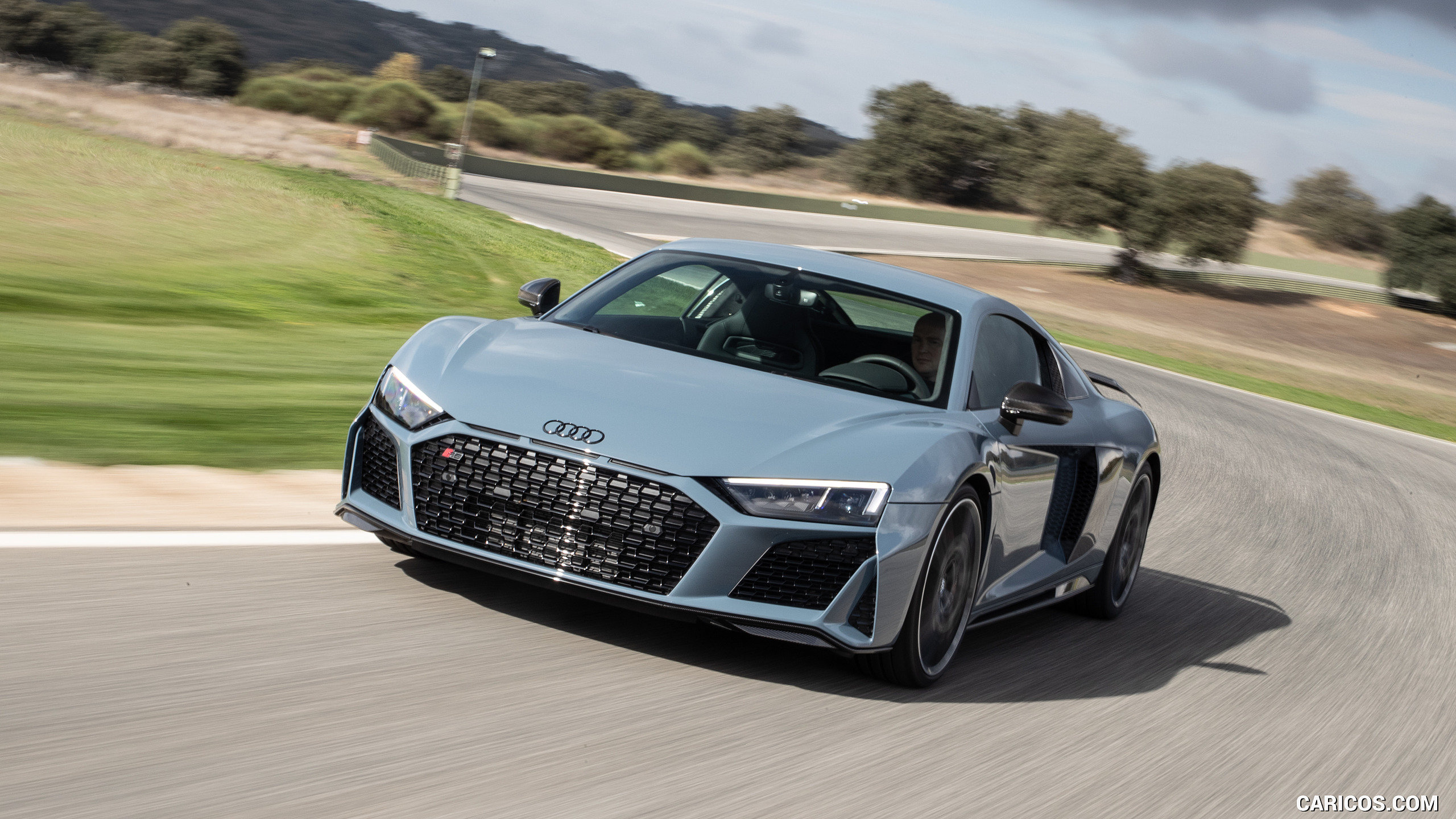 2019 Audi R8 V10 Coupe Color Kemora Gray Metallic   Front HD 2560x1440