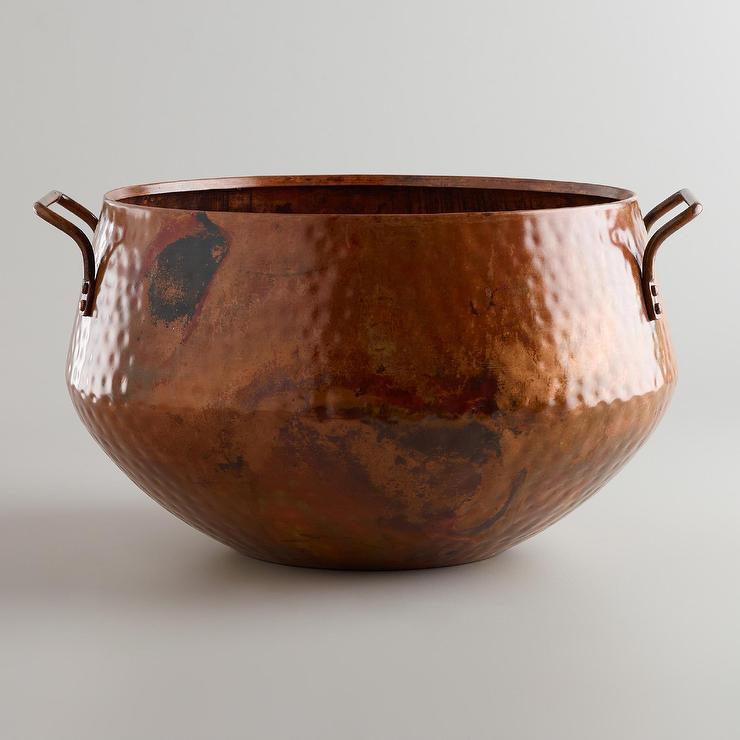 Hammered Copper Bucket   World Market 740x740
