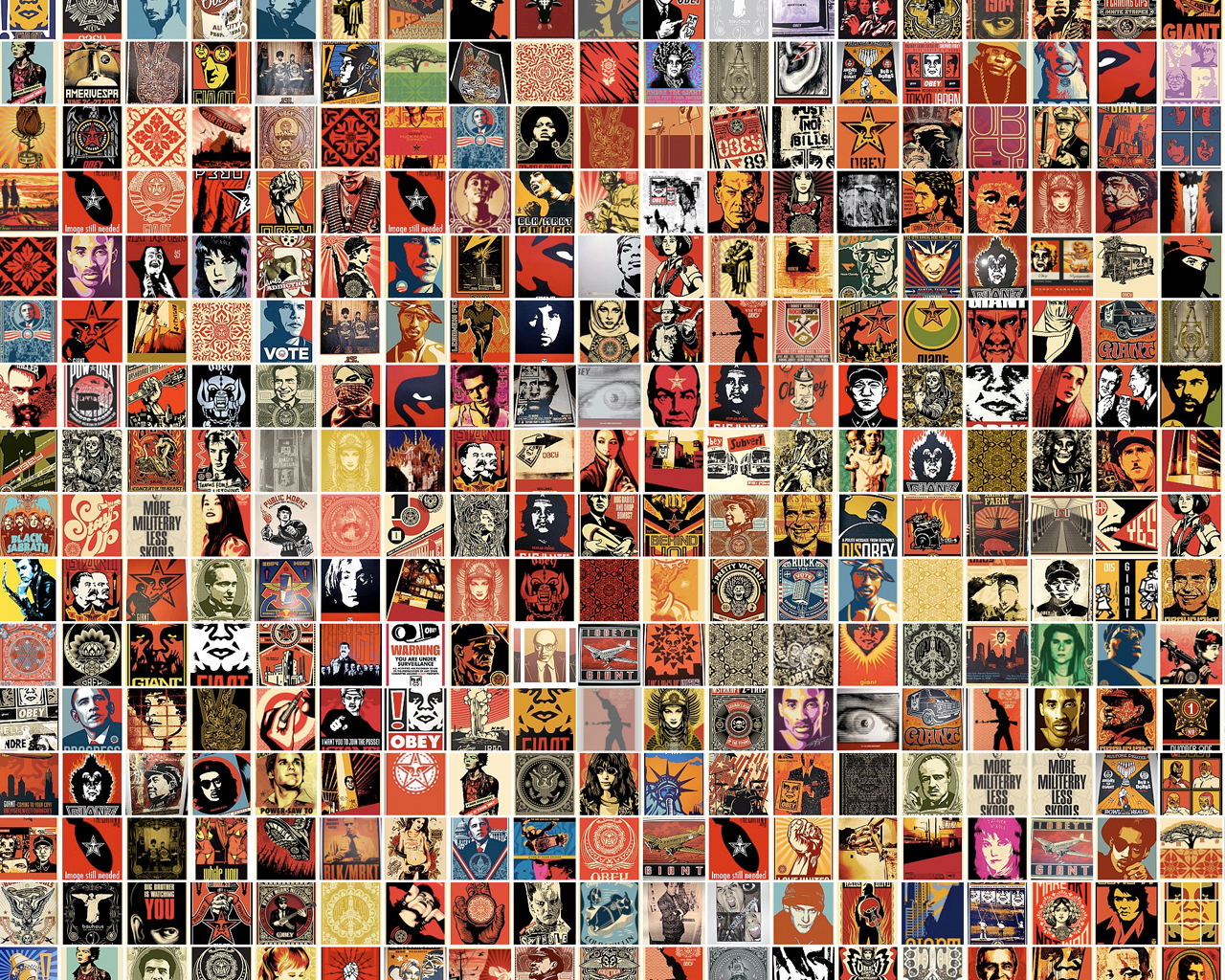 Obey Giant Collage Wallpaper 1280x1024