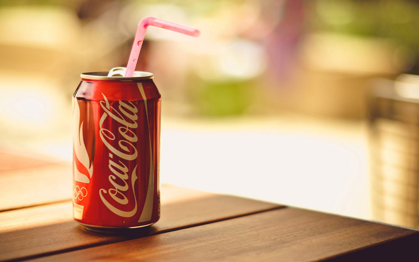 HD Wallpaper Coca Cola Can With Straw Wallpapershuntcom By 1440x900