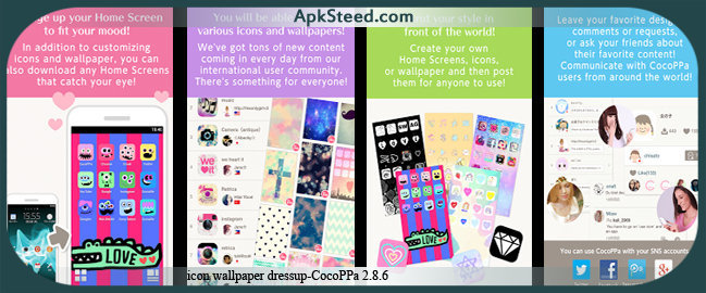 icon wallpaper dressup CocoPPa 286 APK Download Install Guide 649x270