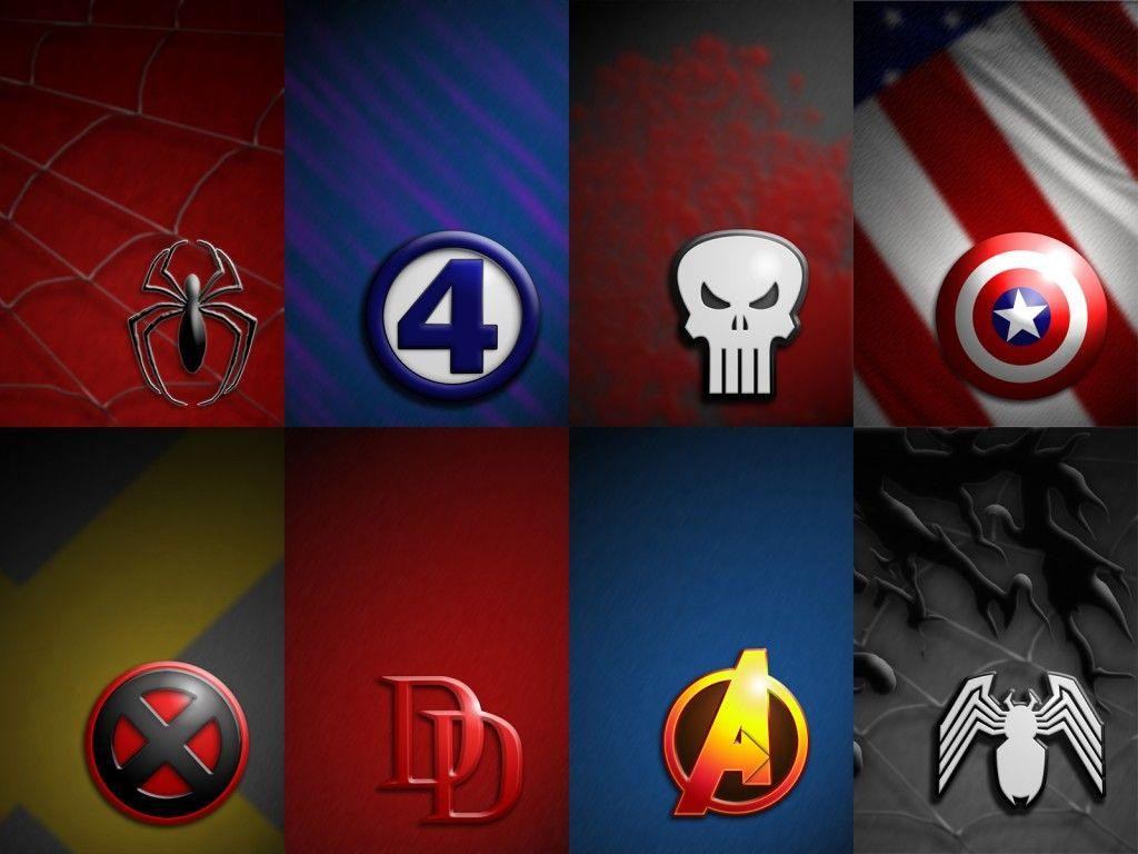 Superheroes Logos Wallpapers 1024x768