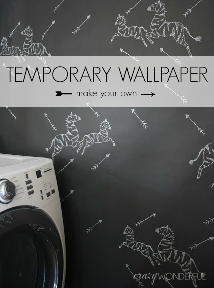 Crazy Wonderful DIY temporary wallpaper 426x574