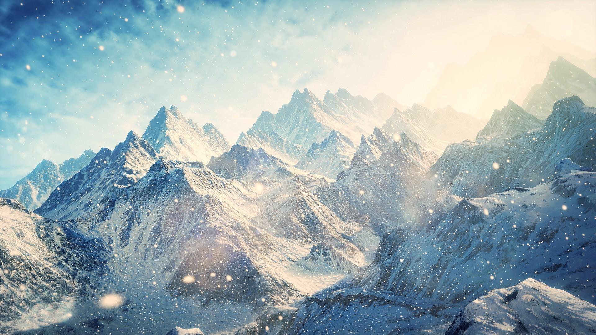 65 Snow Mountain Wallpaper HD 1920x1080