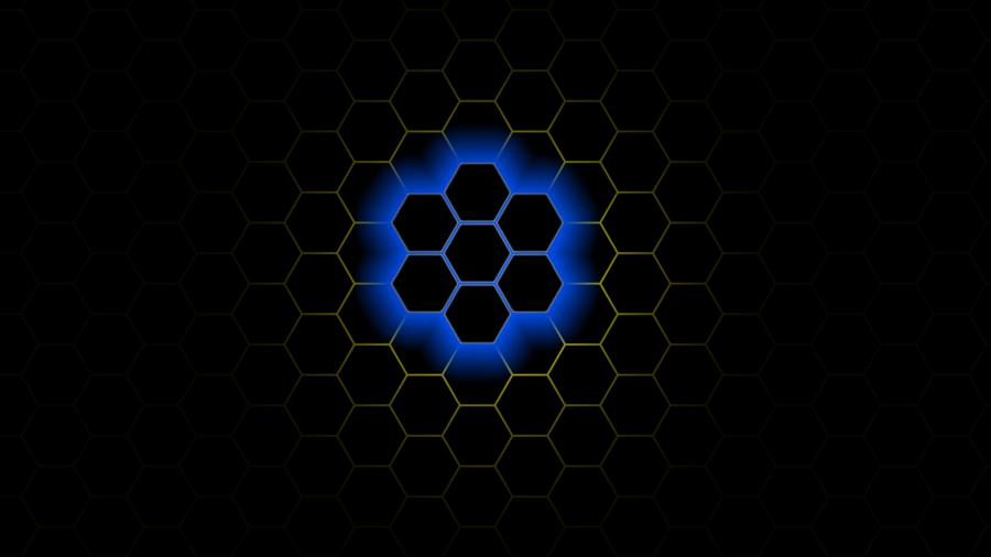Blue Honeycomb Wallpaper Wallpapersafari