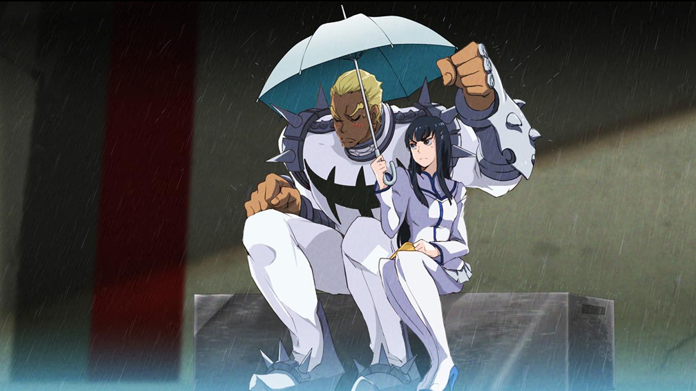 satsuki and ira gamagoori kill la kill anime hd wallpaper 1366x768 1366x768