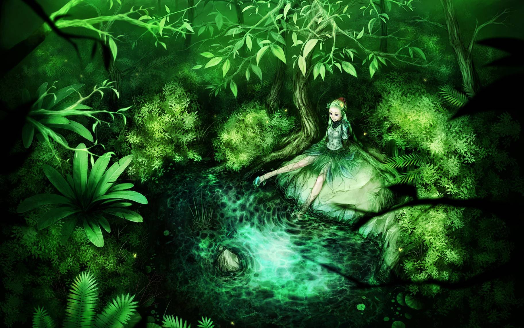 stuffpoint anime anime manga images wallpapers green forest fairy 1824x1140