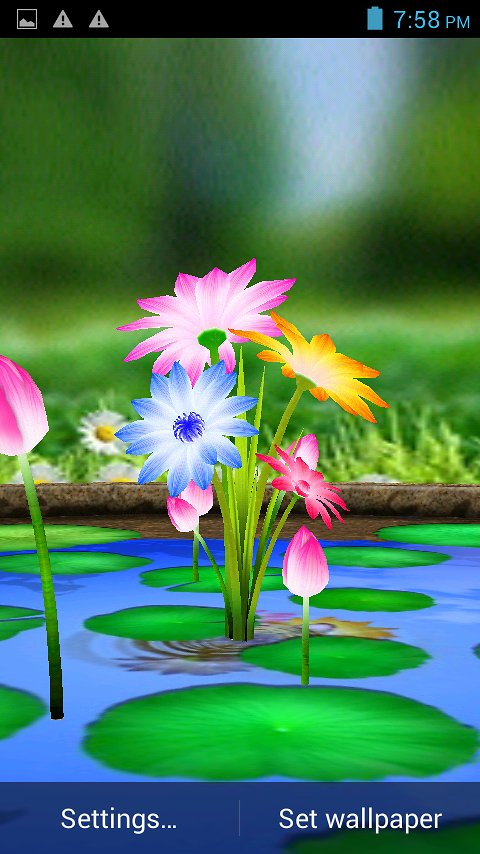 3D Flowers Touch Wallpaper   Android Apps and Tests   AndroidPIT 480x854