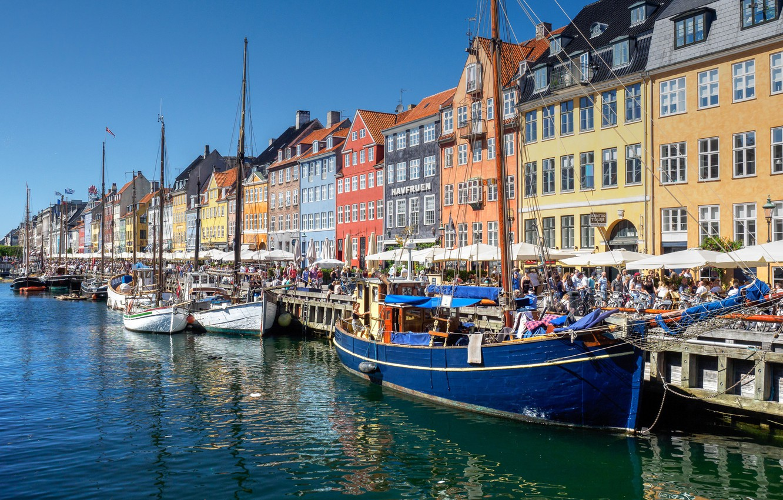 Wallpaper sea boat ship home Denmark promenade Copenhagen 1332x850