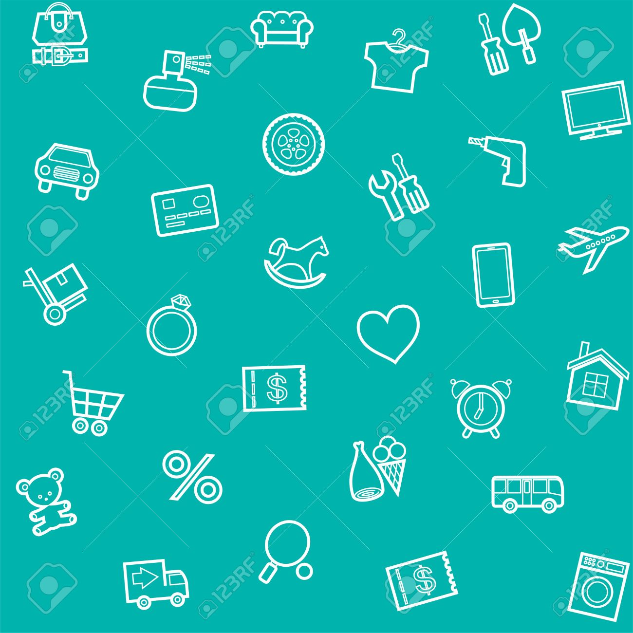 Background Seamless Green Product Categories Online Store 1300x1300