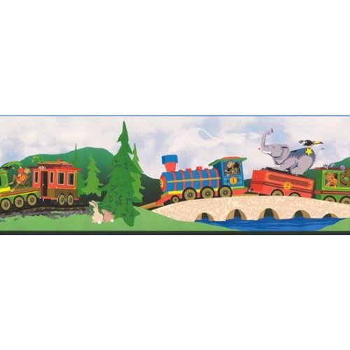 Wallpaper Border Animal Train Circus Express Home 500x500