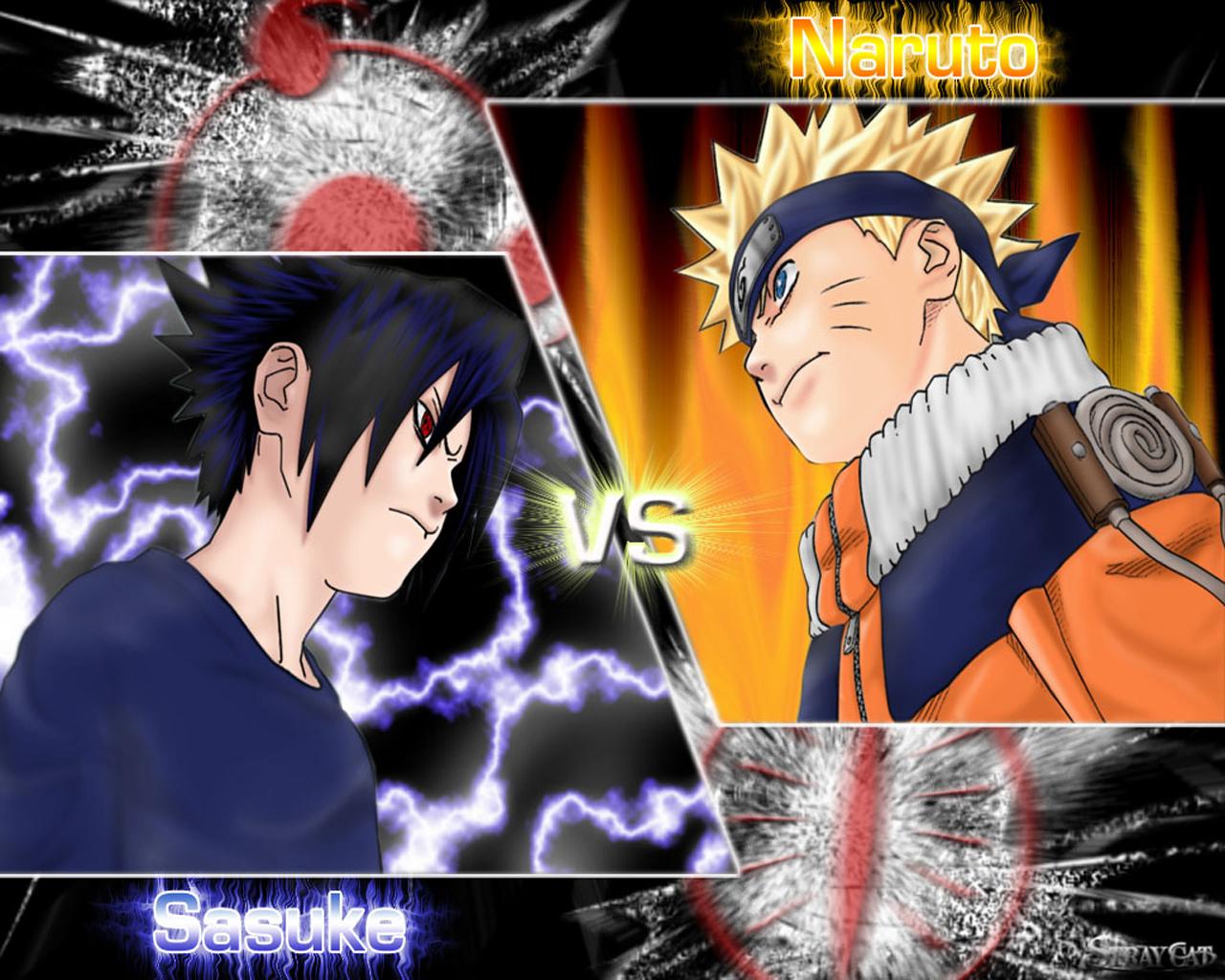Download Uzumaki Naruto wallpaper Naruto vs Sasuke 1280x1024