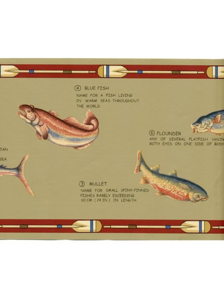 Lodge Rustic Sport Fish Man Cave Mens Tan Wall Wallpaper Border eBay 750x1000