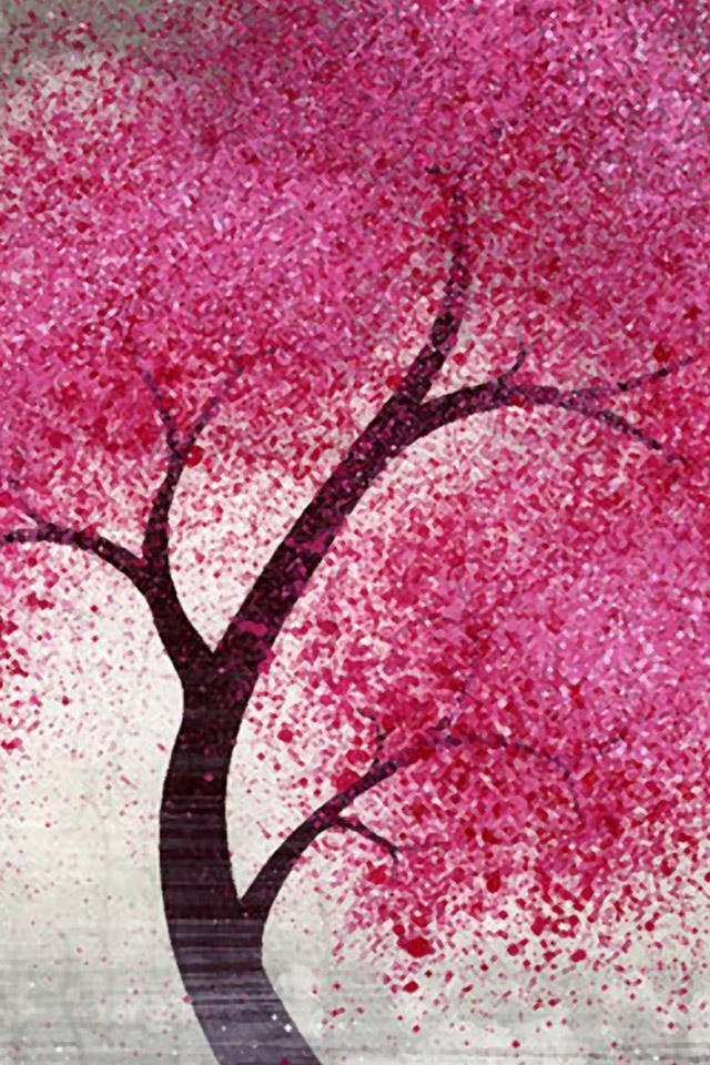 hd beautiful pink tree apple iphone wallpapers backgrounds 640x960